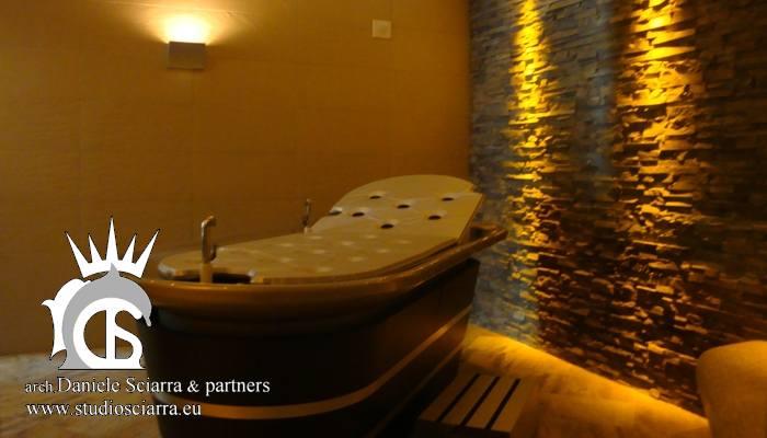 progetto cabina hammam per un centro benessere spa, realizzazione centri benessere spa