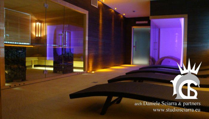progetto e realizzazione centri benessere spa con sauna e  stanza del sale per centir benessere