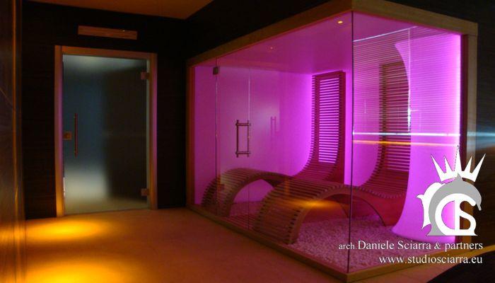 Progettazione centri benessere spa e realizzazione centri benessere spa con stanza del sale - architetto daniele sciarra Roma