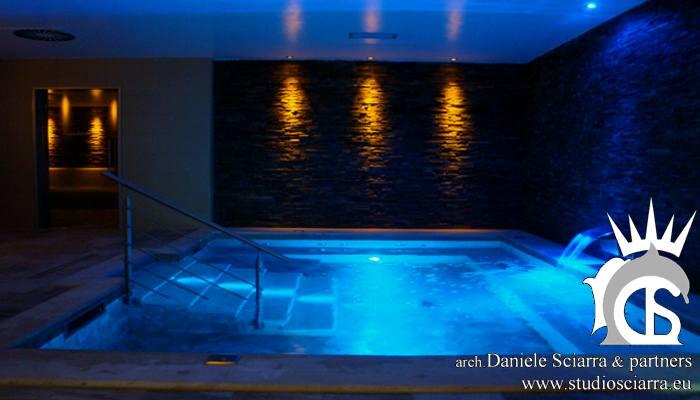 Progettazione centri benessere spa e realizzazione centri benessere spa con piscina idromassaggio