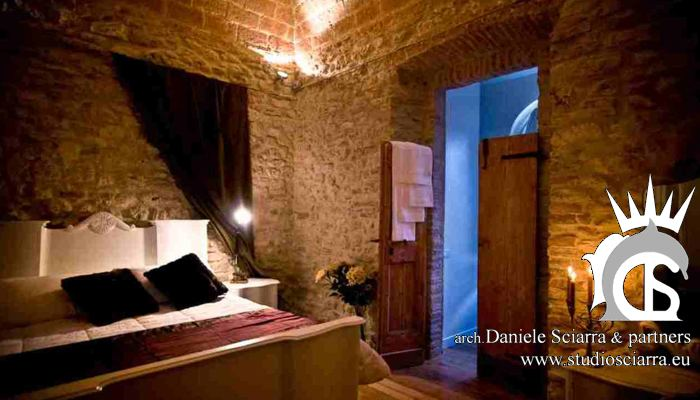 Una suite in una location antica del castello