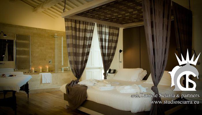 La spa suite con vasca idro e lettino massaggi