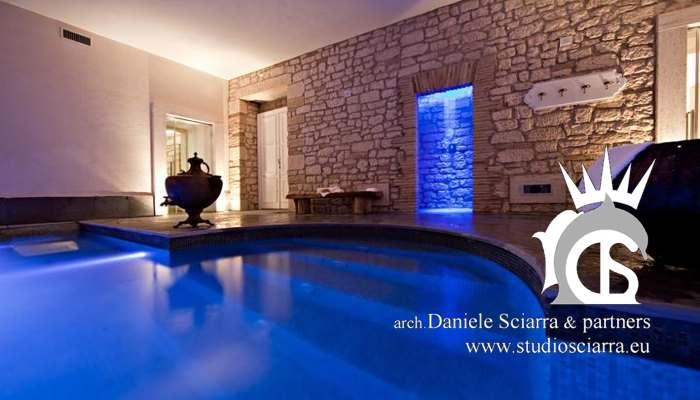 realizzazione piscina idromassaggio centro benessere castello di montignano realizzazione centri benessere spa hotel progettazione centri benessere spa