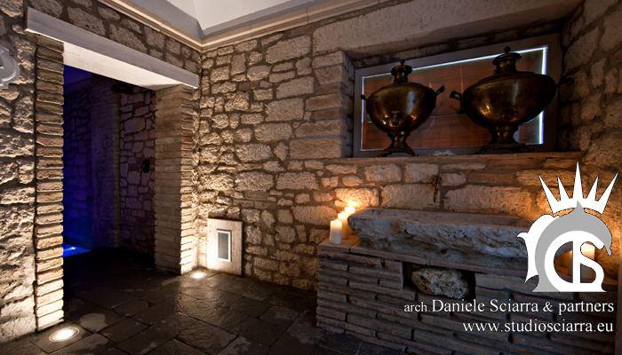 Tepidarium,il beverino e l'ingresso alla cascata gelata