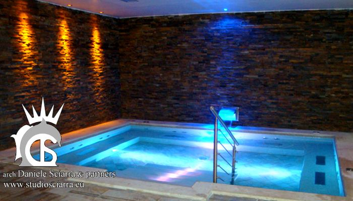 progetto piscina idromassaggio centro benessere essenthia spa tolive roma