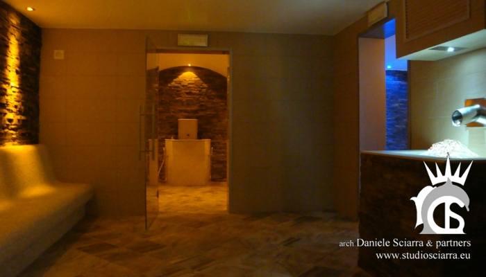 progetto centro benessere hotel e realizzazione centro benessere spa e centro benessere con bagno turco e cascata di ghiaccio centro benessere spa