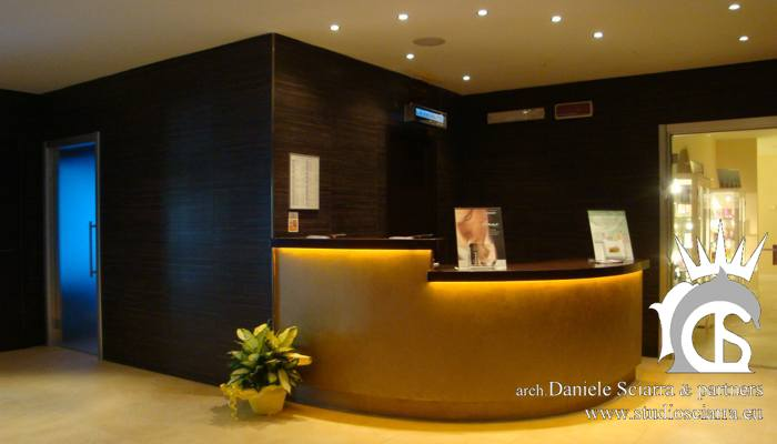 La zona reception del LIFE SPA