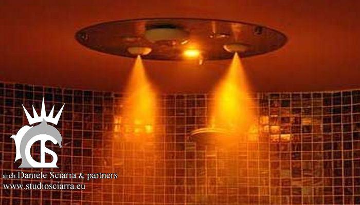 Particolare della doccia emozionale