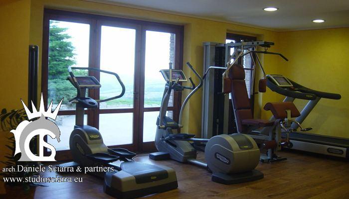La piccola zona fitness al centro benessere Spa