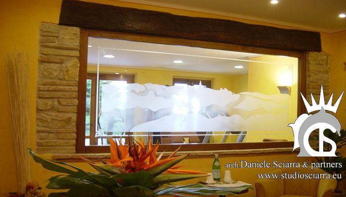 La hall del Centro benessere SPA al Relais Todini