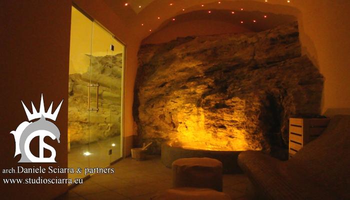 Aromarium con grotta e cascatelle naturali - Terme di Stigliano