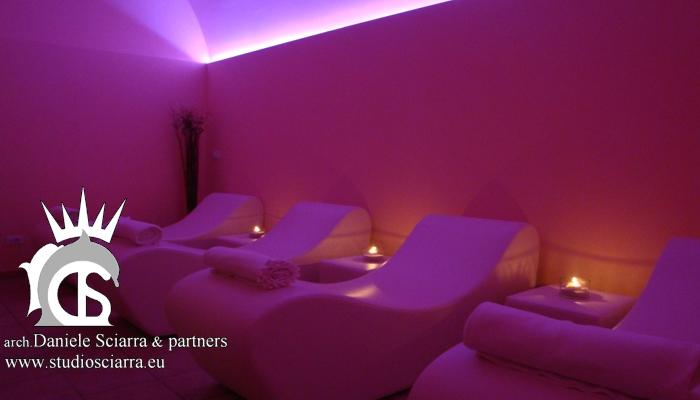 Zona relax con la cromoterapia - Terme di Stigliano