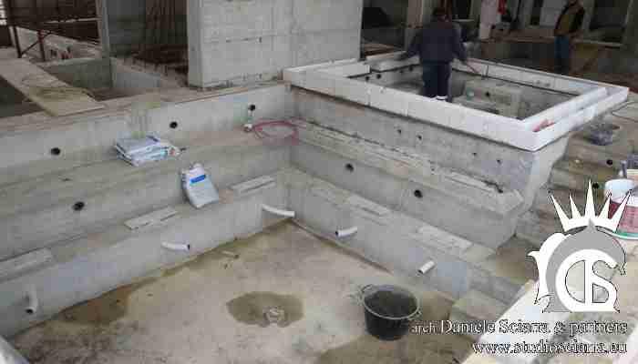 Realizzazione centro benessere spa in villa