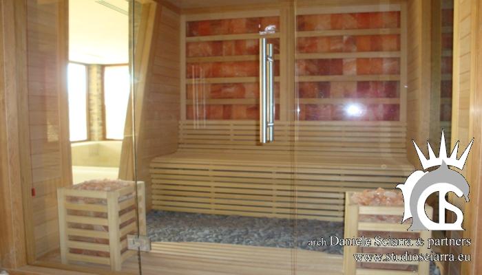 Realizzazione della stanza del sale all'interno della Spa