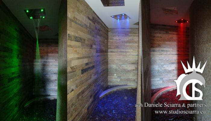 Il tunnel sensoriale con le tre docce emozionali in sequenza