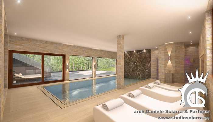 Il thermarium con la piscina idromassaggio