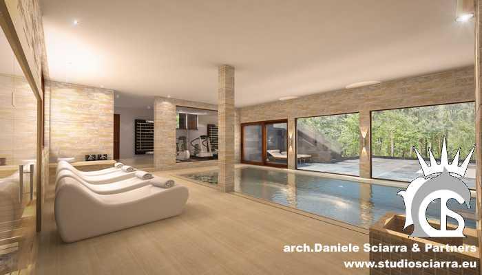Il centro benessere spa in villa privata